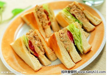 爱眼食谱:豆腐三明治