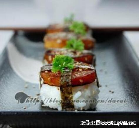 孕期爱眼食谱:煎红薯饭团