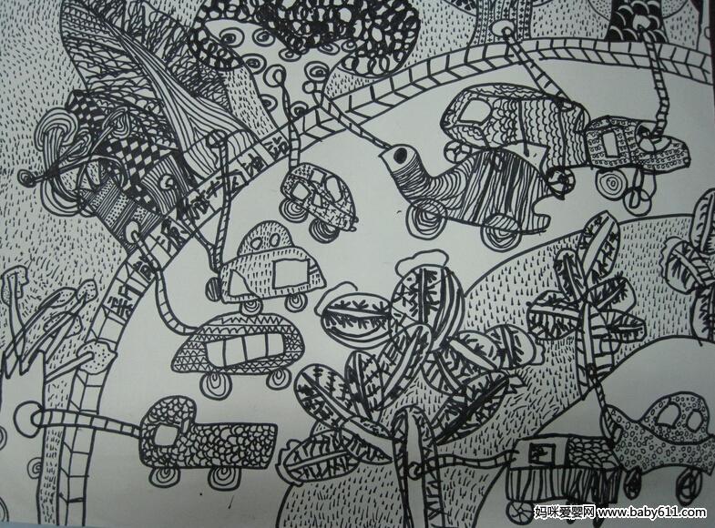 幼sxda绘画作品:能源加油站