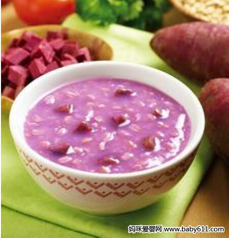 儿童四季食谱:紫薯粥