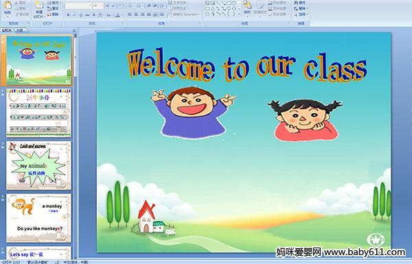 英语课件 - 幼儿园大班英语课件