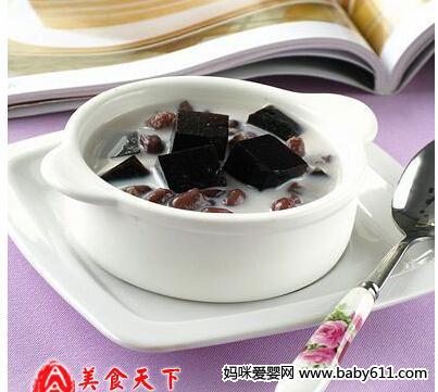 消暑冷饮:蜜豆龟苓膏