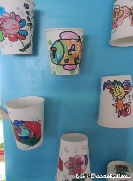 幼儿园中班作品:纸杯装饰