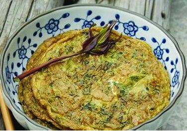 香椿芽煎蛋饼