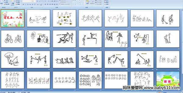 幼儿园中班美术课件——简笔画:人物