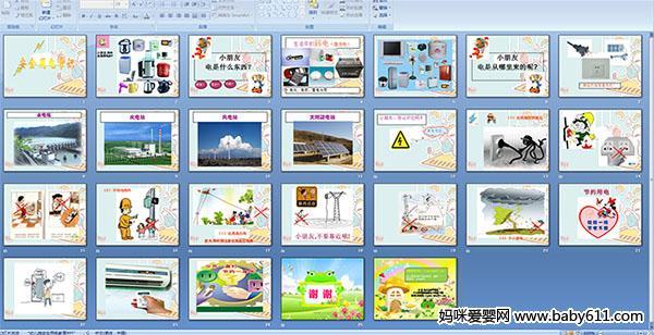 幼儿园大班安全PPT课件 安全用电常识图片