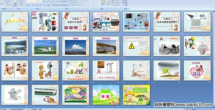 幼儿园大班安全 安全用电常识 PPT课件图片