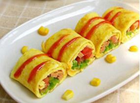 爱眼食谱:蔬菜蛋卷
