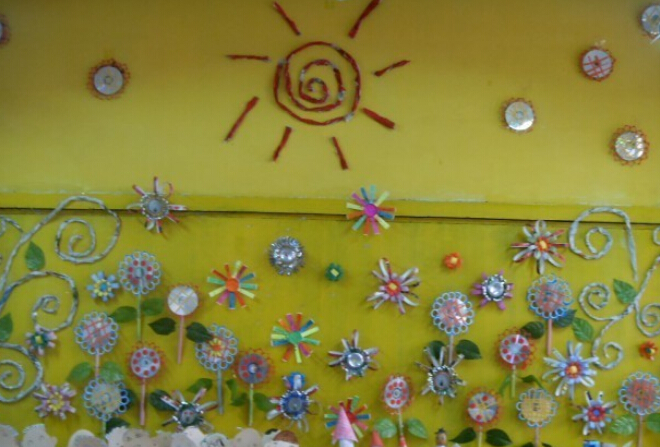 幼儿园环保主题墙饰作品集锦