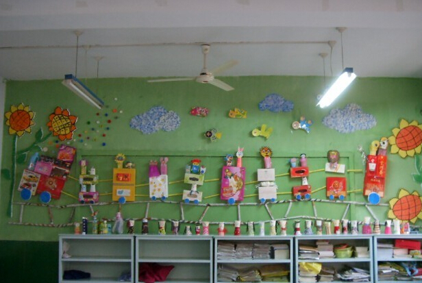 幼儿园环保主题墙饰作品集锦图片