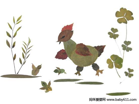幼儿园手工:树叶拼图大全(5)