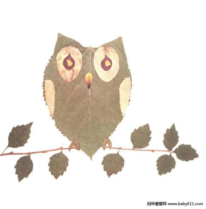 幼儿园手工:树叶拼图大全(9)