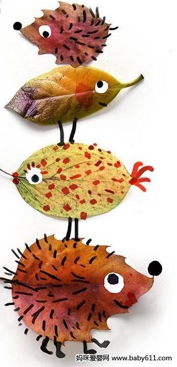 用树叶做小动物内容|用树叶做小动物版面设计