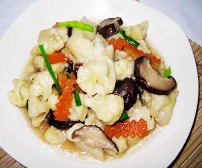 哺乳期不适食谱: 香菇炒菜花