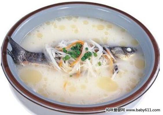 孕前营养建议:萝卜鲤鱼汤