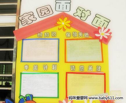 幼儿园家园栏设计图片展示