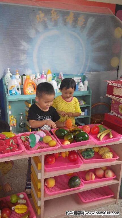 幼儿园角色游戏主题 逛超市 高清图片