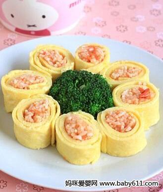 儿童四季食谱:胡萝卜番茄饭卷