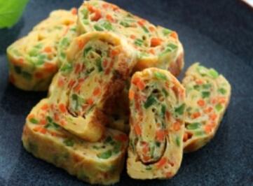 儿童菜谱蔬菜类:蔬菜鸡蛋卷