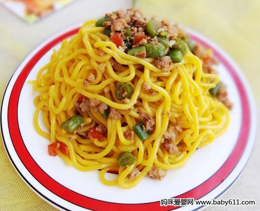 儿童食谱面条类:虾仁菜汤面 ...
