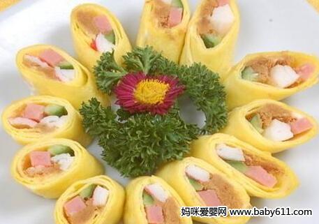 营养食谱:芙蓉蛋卷