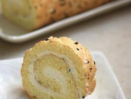 摩卡娱乐在线食谱卷类:芝麻椰蓉蛋糕卷