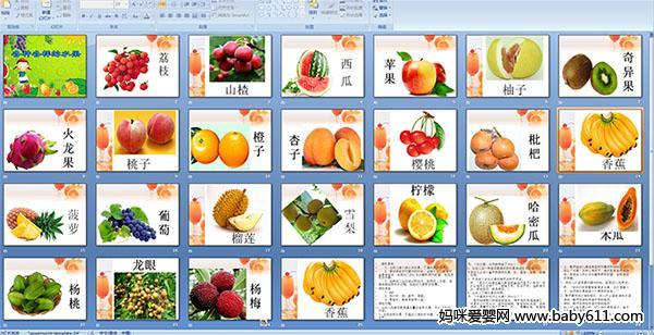幼儿园小班综合活动课件:各种各样的水果