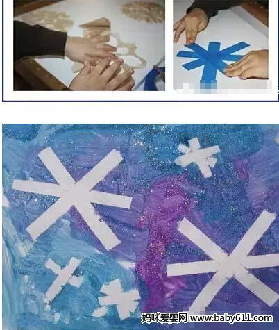 奇妙的雪花制作(2) - 幼儿园手工制作图片