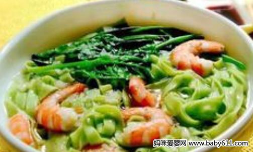 挂面儿童孩子类:虾肉肝菜食谱软面条面条总吃什锦图片