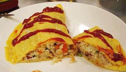 儿童食谱营养花样饭:香菇蛋包饭图片