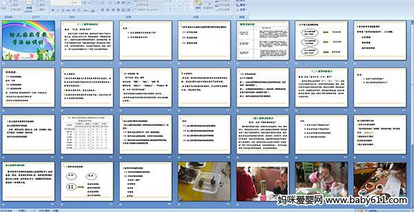幼儿园数学教学活动设计ppt课件