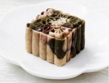 摩卡娱乐在线食谱西式糕点:迷彩芸豆糕