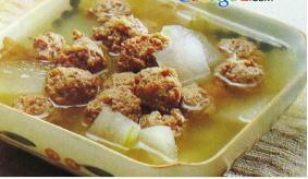 儿童菜谱汤类:肉丸汤