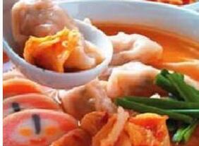 儿童饺子类食谱:泡菜饺子锅