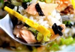 儿童食谱营养花样饭:日式鲑鱼茶泡饭