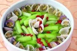 孕期不适食谱:丝瓜蛤蜊