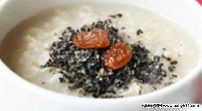 滋补保健类:黑芝麻燕麦粥