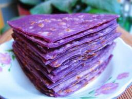 紫薯烫面饼