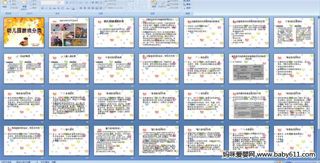 幼儿园游戏分类PPT课件
