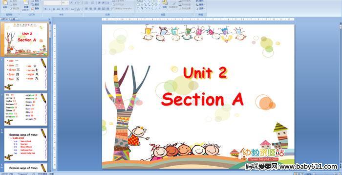 七年级英语PPT课件――Unit 2 Section A