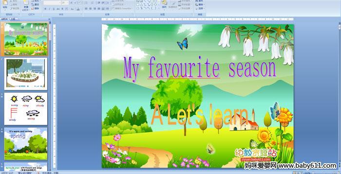 小学五年级英语《My favourite season A Let s learn》PPT课件