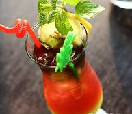 消暑冷饮:西瓜柠檬饮