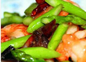 减肥食谱:鲜虾芦笋