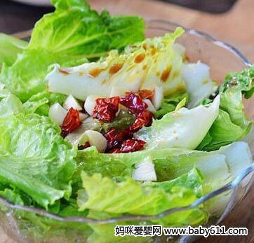 减肥食谱:炝拌生菜