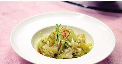 白菜炒木蟹肉