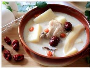 山药豆浆鸡汤