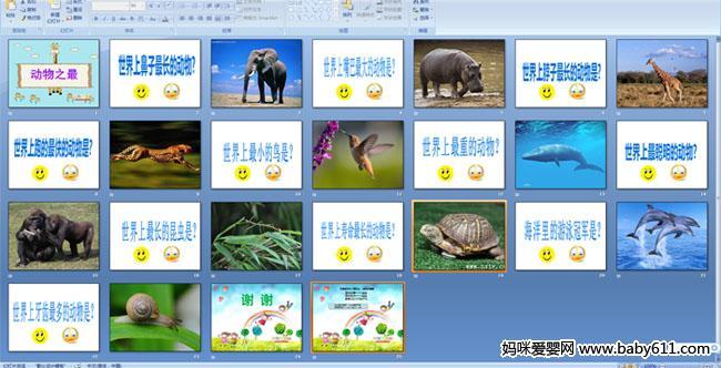 幼儿园大班科学课件:动物之最