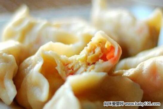 胡萝卜鸡肉饺