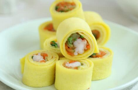 鲜虾蔬菜蛋卷