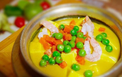 简易咖喱海鲜豆腐